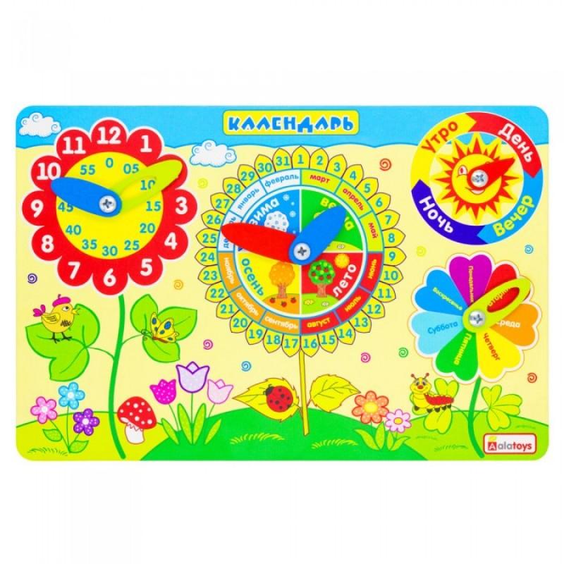 Деревянная игрушка Alatoys Бизиборд Календарь