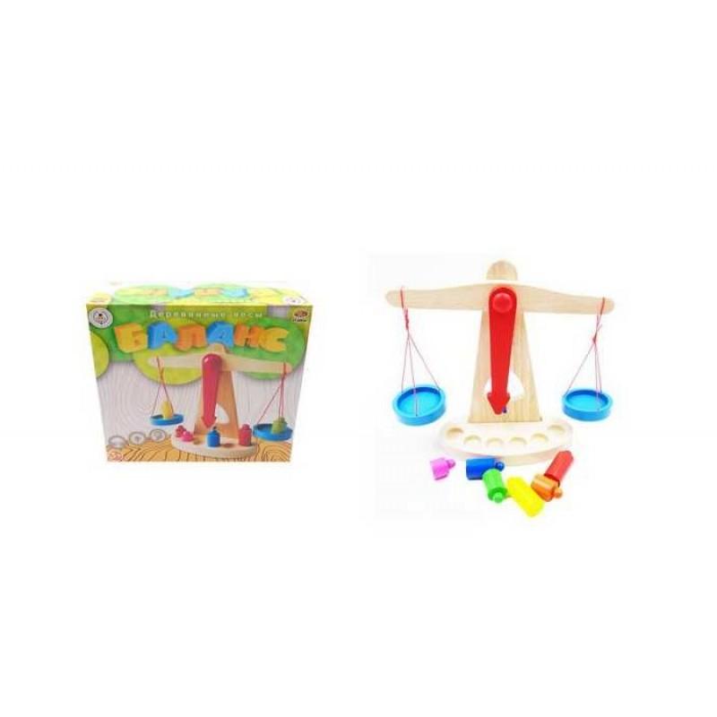 Деревянная игрушка ABtoys Весы Баланс