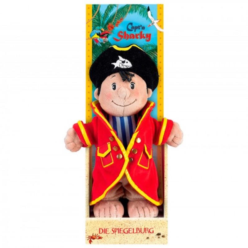 Мягкая игрушка Spiegelburg Плюшевый Capt'n Sharky 25194 25 см