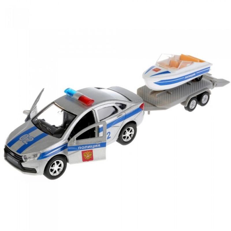 Технопарк Машина металлическая Lada Vesta Полиция 12 см