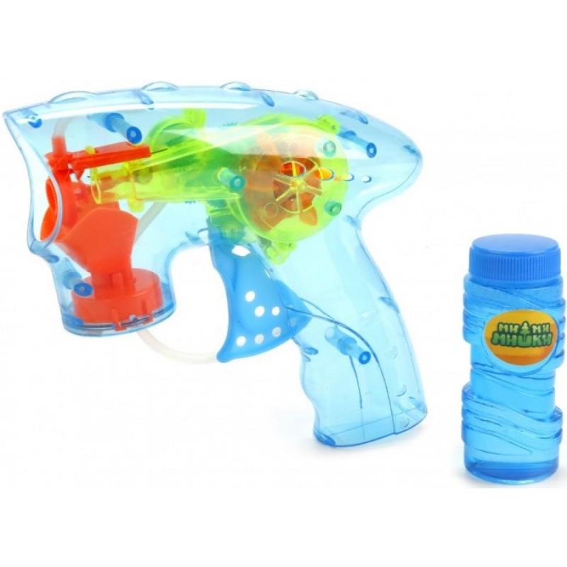 Играем вместе Пистолет для пускания мыльных пузырей Мимимишки 50 мл