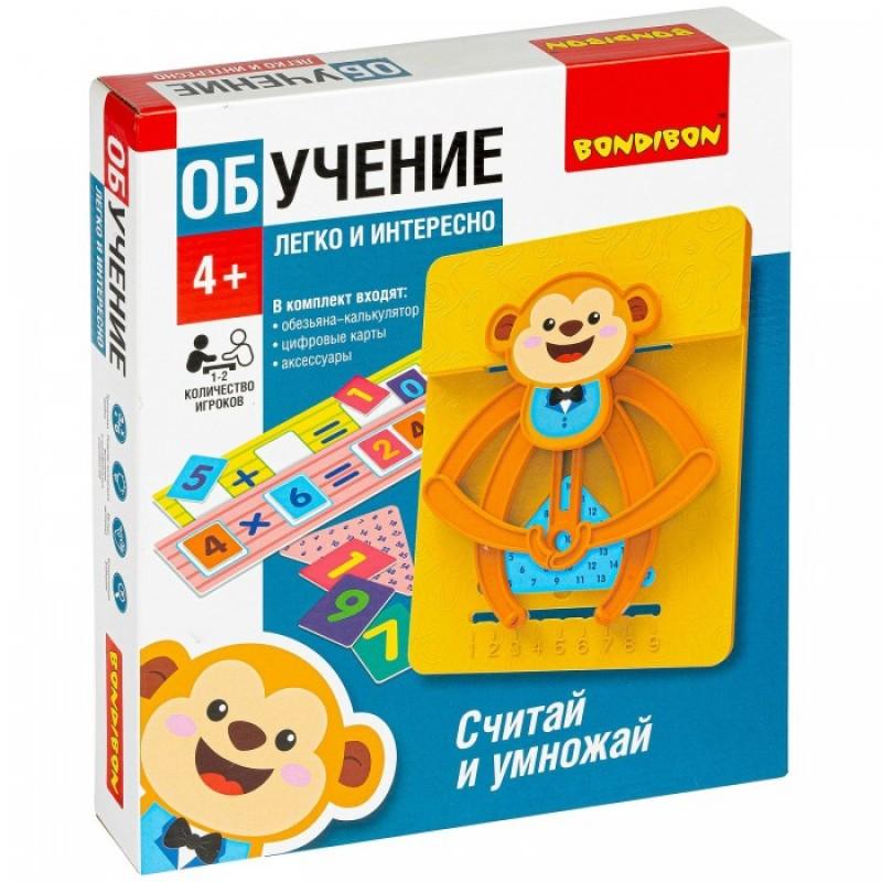 Bondibon Настольная обучающая игра Считай и умножай Обезьянка