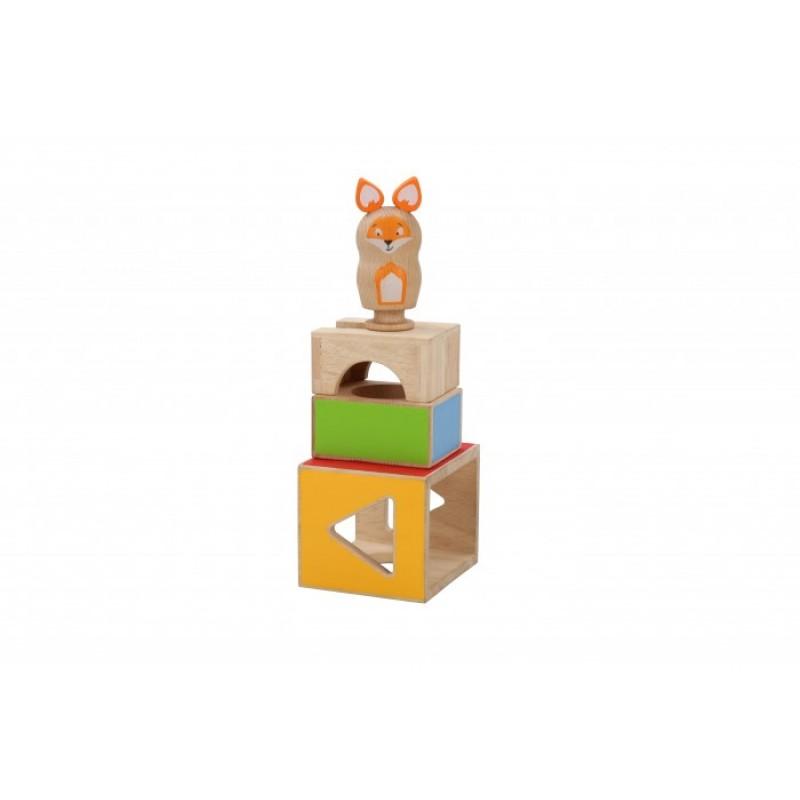 Деревянная игрушка Lucy & Leo Обучающий набор Ловкий Лис