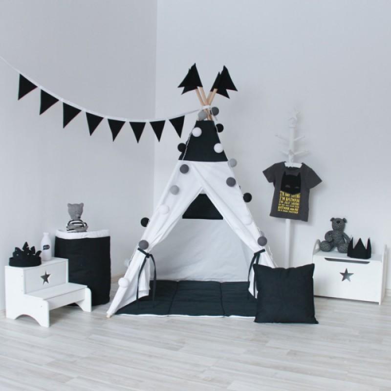 VamVigvam Вигвам Black&White с окном и карманом