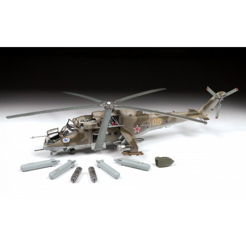 Звезда Сборная модель Советский ударный вертолет Ми-24В/ВП