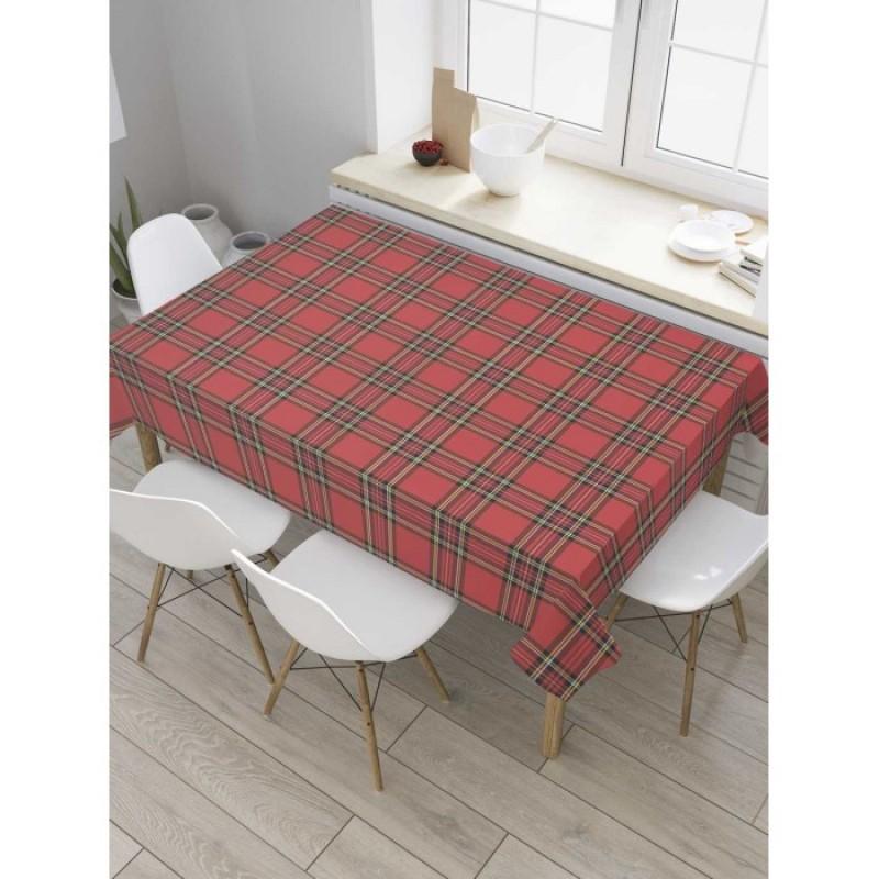 JoyArty Скатерть на кухонный стол Клетка 180x145 см