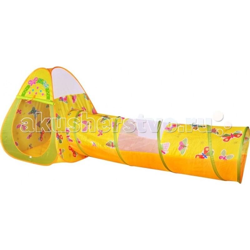 BabyOne Ching-Ching Игровой домик треугольный + туннель + 100 шариков