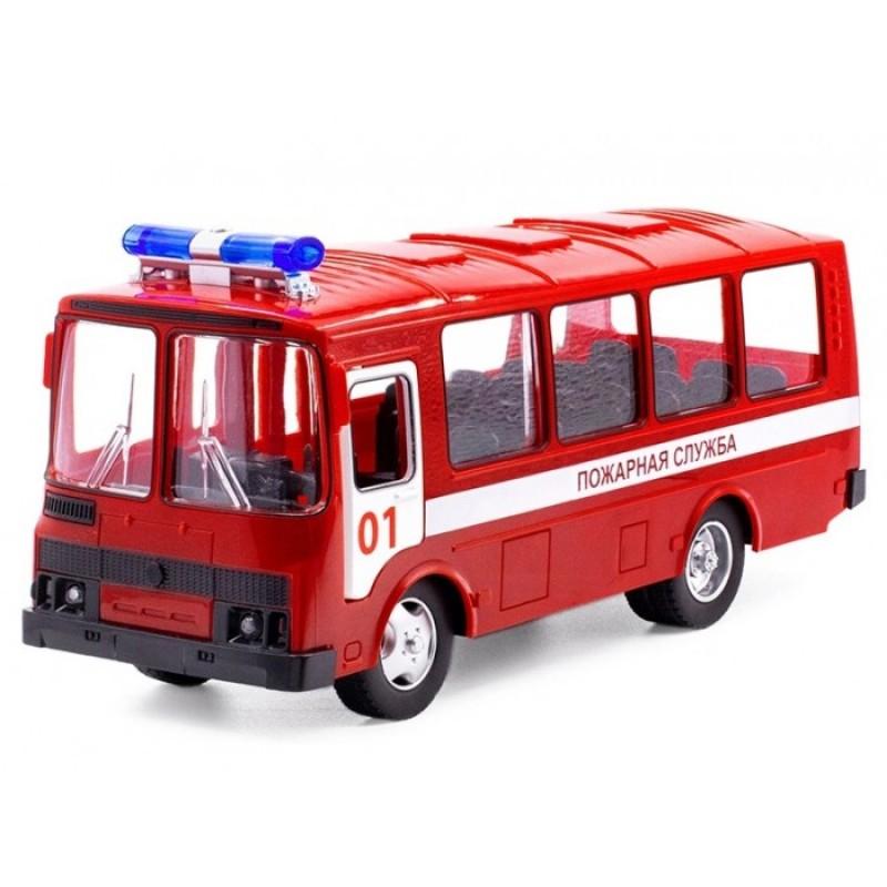 Serinity Toys Инерционная машинка Автобус паз Пожарная служба