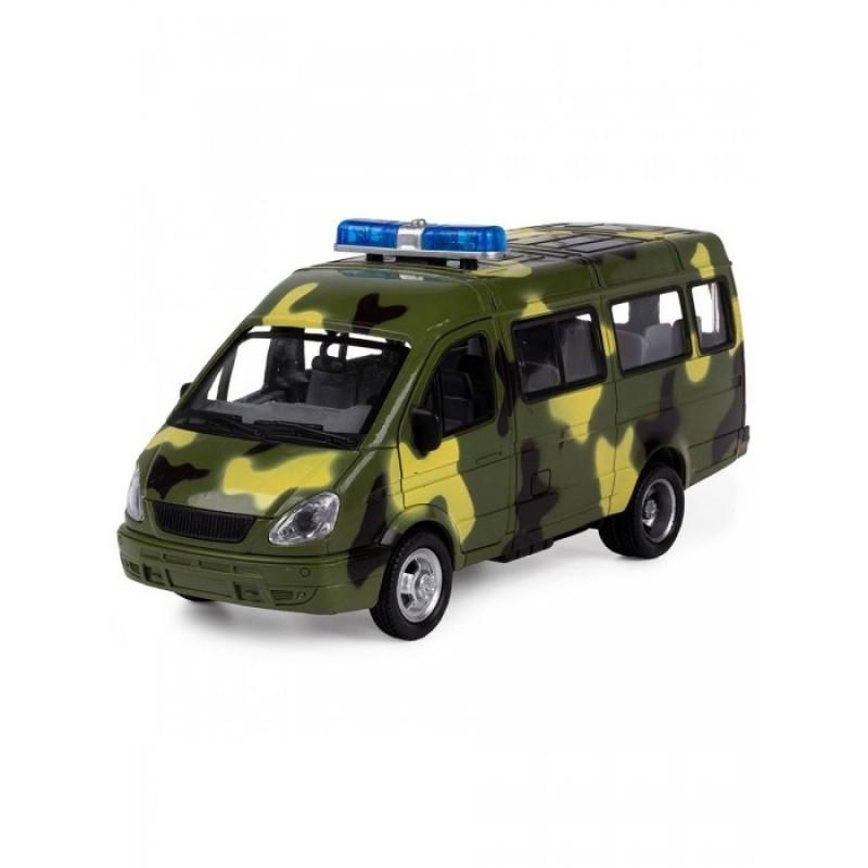 Play Smart Serinity Toys Инерционная машинка с открывающимися дверями Микроавтобус Военный