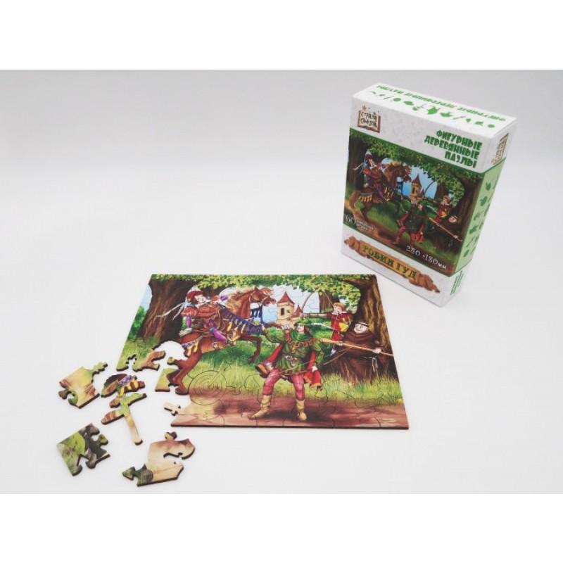 Нескучные Игры Деревянный пазл Страна Сказок Робин Гуд
