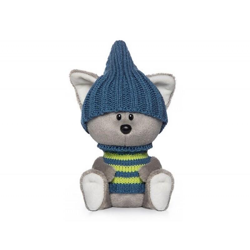 Мягкая игрушка Budi Basa Волчонок Вока в шапочке и свитере
