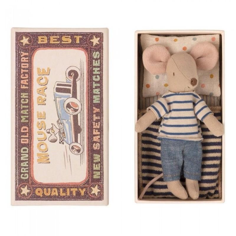 Мягкая игрушка Maileg Мышонок старший брат в коробке 13 см