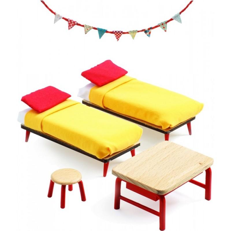 Djeco Мебель для кукольного дома Спальня для детей