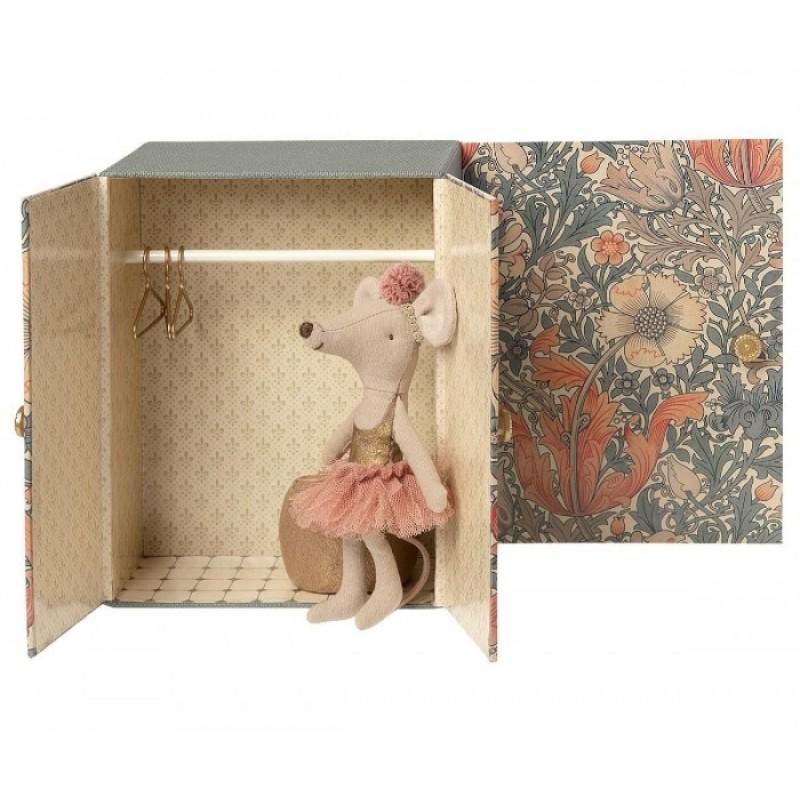 Мягкая игрушка Maileg Балетная комната c мышкой старшей сестрой