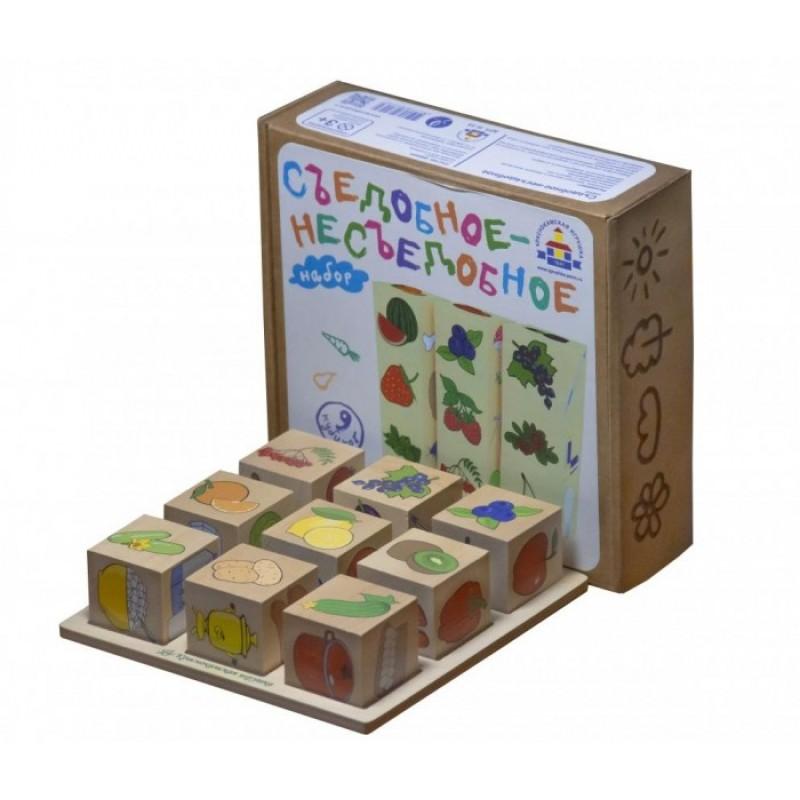 Деревянная игрушка Краснокамская игрушка Логическая игра Съедобное-Несъедобное