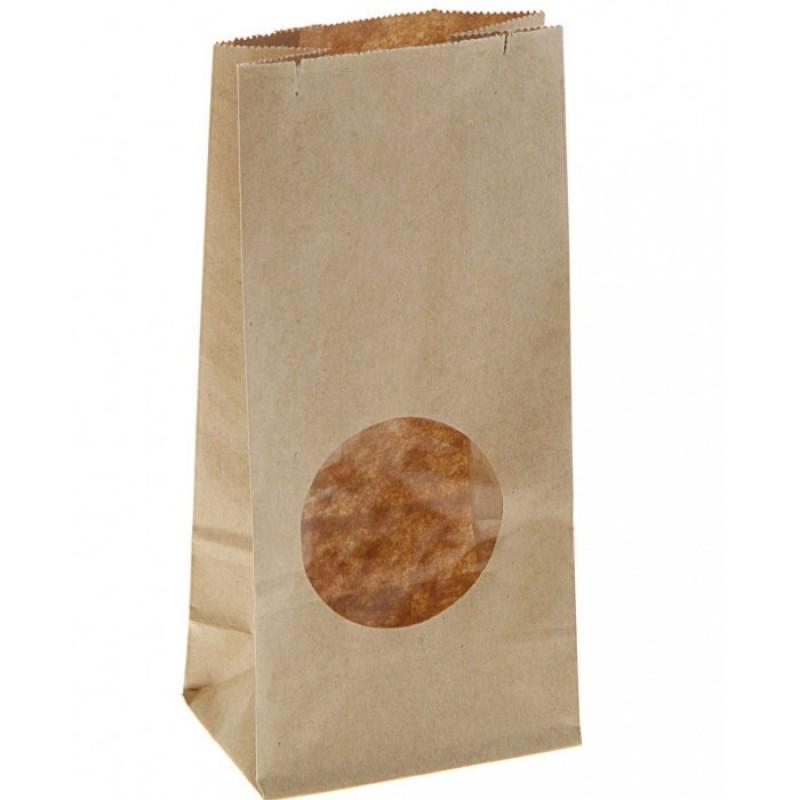 Attache Пакет из крафт-бумаги с окном 17х8х5 50 шт.