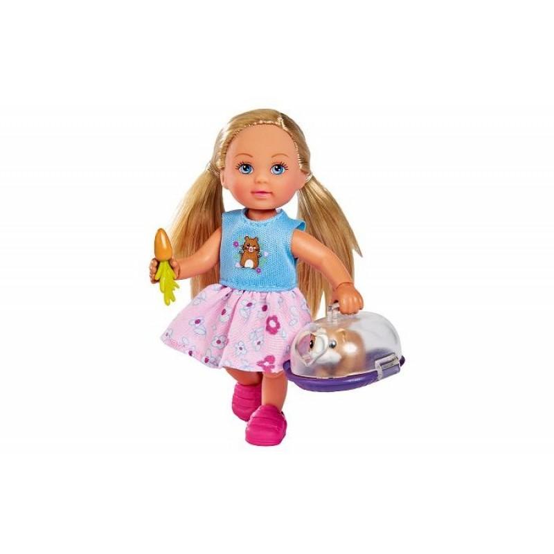 Simba Кукла Еви с морской свинкой в переноске 12 см