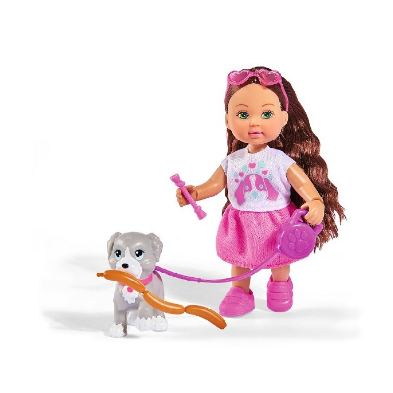 Simba Кукла Еви с собачкой и аксессуарами Holiday 12 см