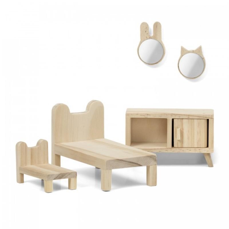 Lundby Набор деревянной мебели для домика Сделай сам Спальня