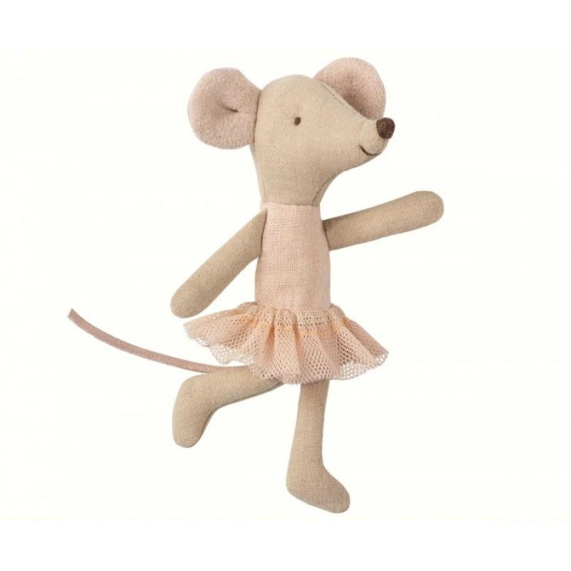 Мягкая игрушка Maileg Мышка младшая сестра Балерина 16-8722-00