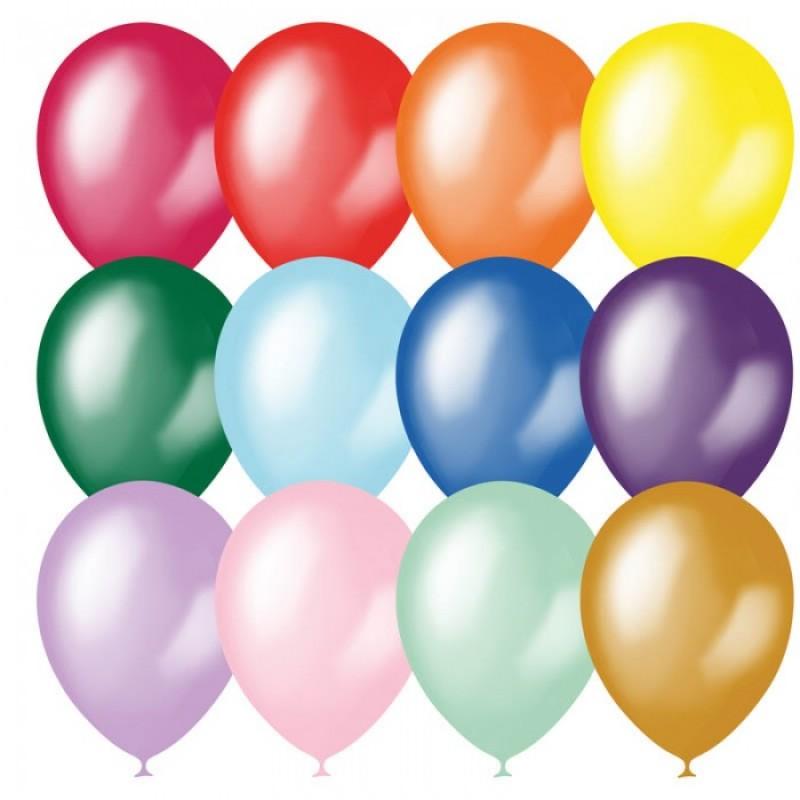 Поиск Воздушные шары ассорти металл 23 см 100 шт.