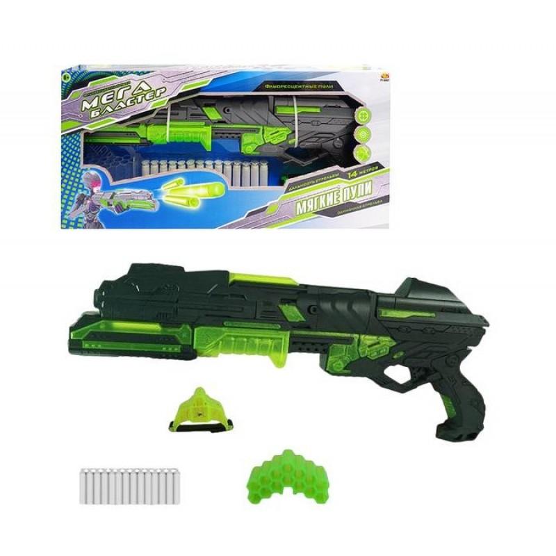 ABtoys Мегабластер с 14 мягкими снарядами и аксессуарами PT-00807