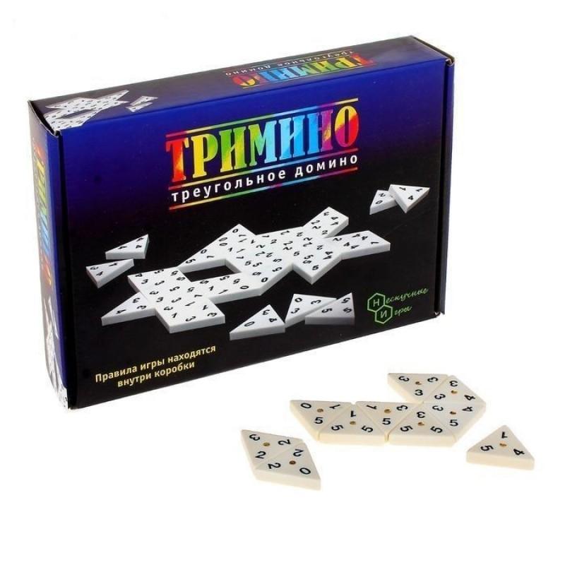 Нескучные Игры Настольная игра треугольное домино Тримино