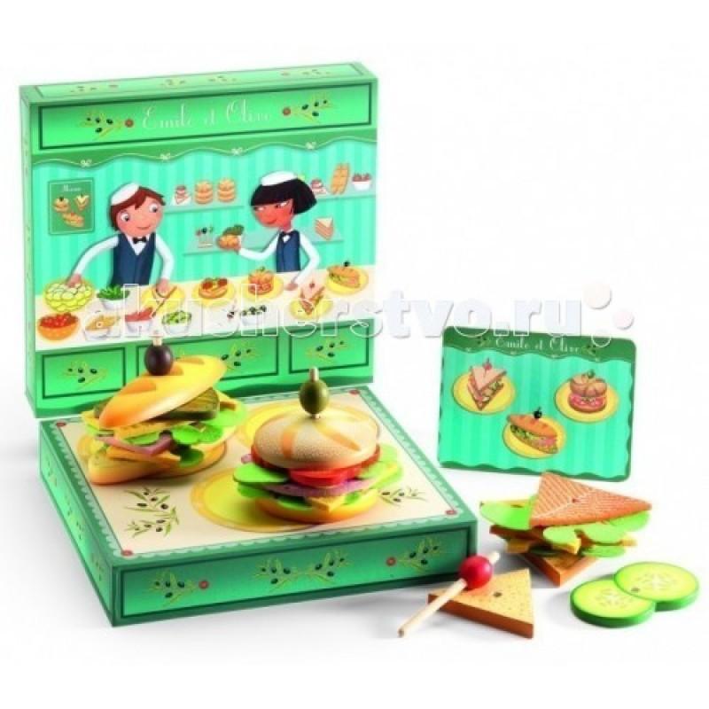 Деревянная игрушка Djeco Сэндвичи от Эмиля и Олив