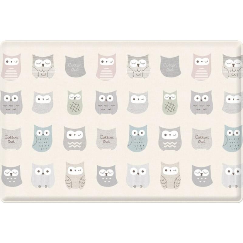 Игровой коврик Parklon Bubble play Нежные Совы и Елочки 190x130x3