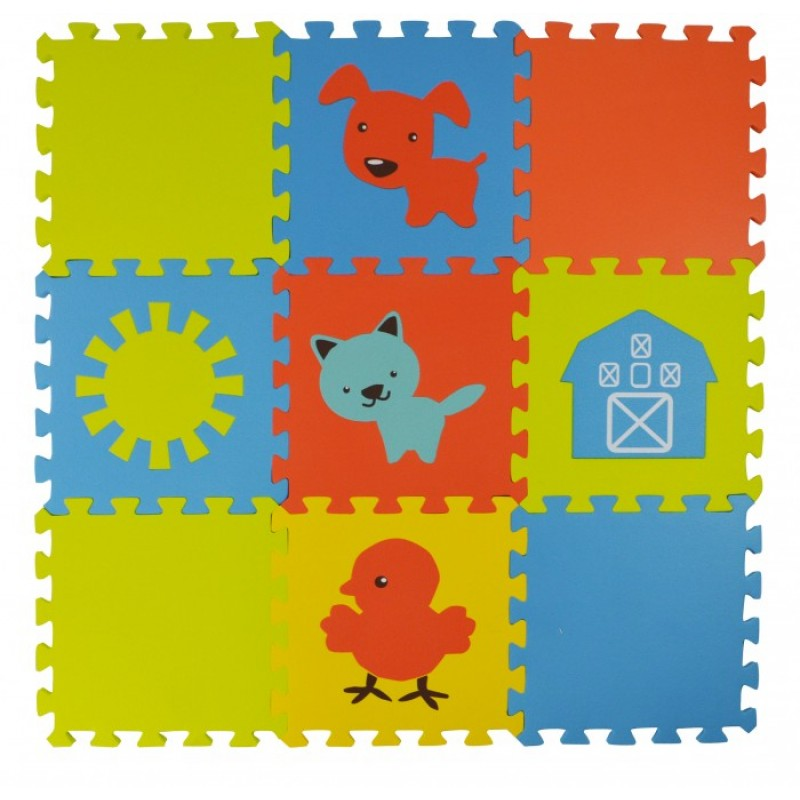 Игровой коврик Forest kids пазл Funny Farm 9 деталей 30х30х1,5 см
