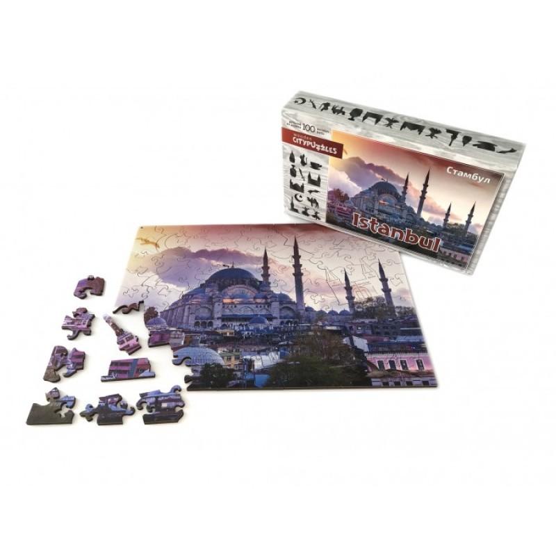 Нескучные Игры Деревянный пазл Citypuzzles Стамбул