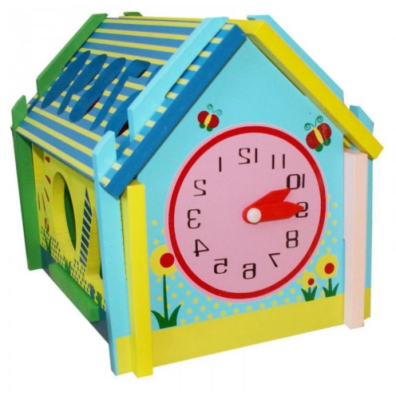 Деревянная игрушка QiQu Wooden Toy Factory Логическая игра Домик фигур
