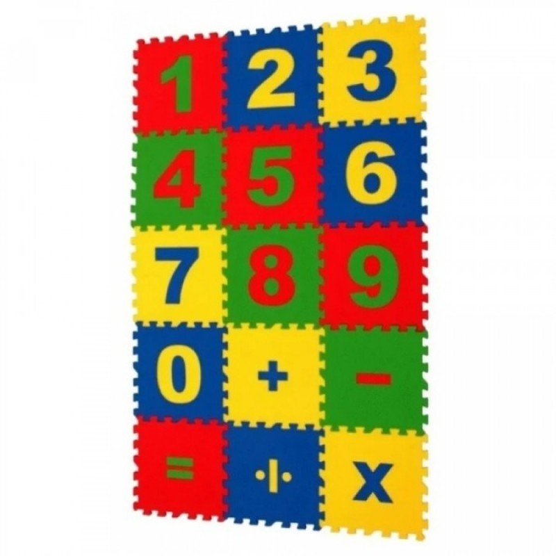 Игровой коврик Eco Cover пазл Математика 20x20x0,9 cм