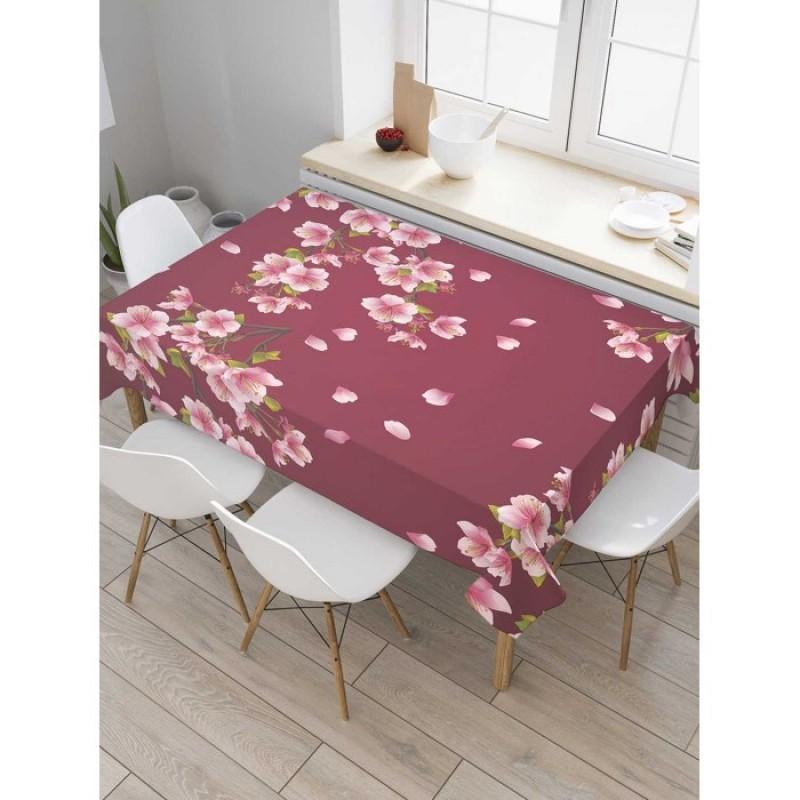 JoyArty Скатерть прямоугольная Цветки сакуры 145x120 см