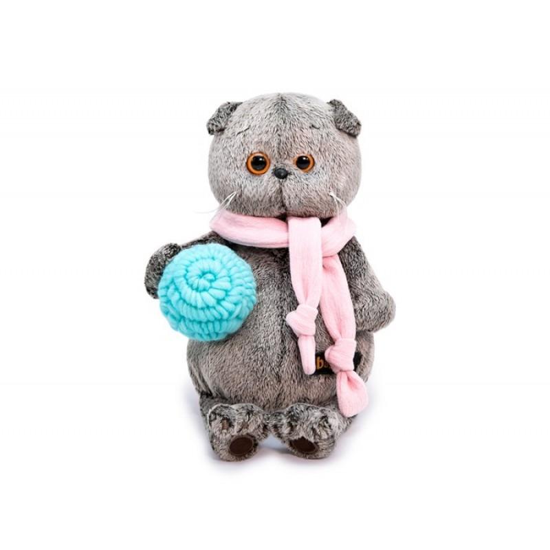 Мягкая игрушка Budi Basa Басик в шарфике и с клубком 25 см