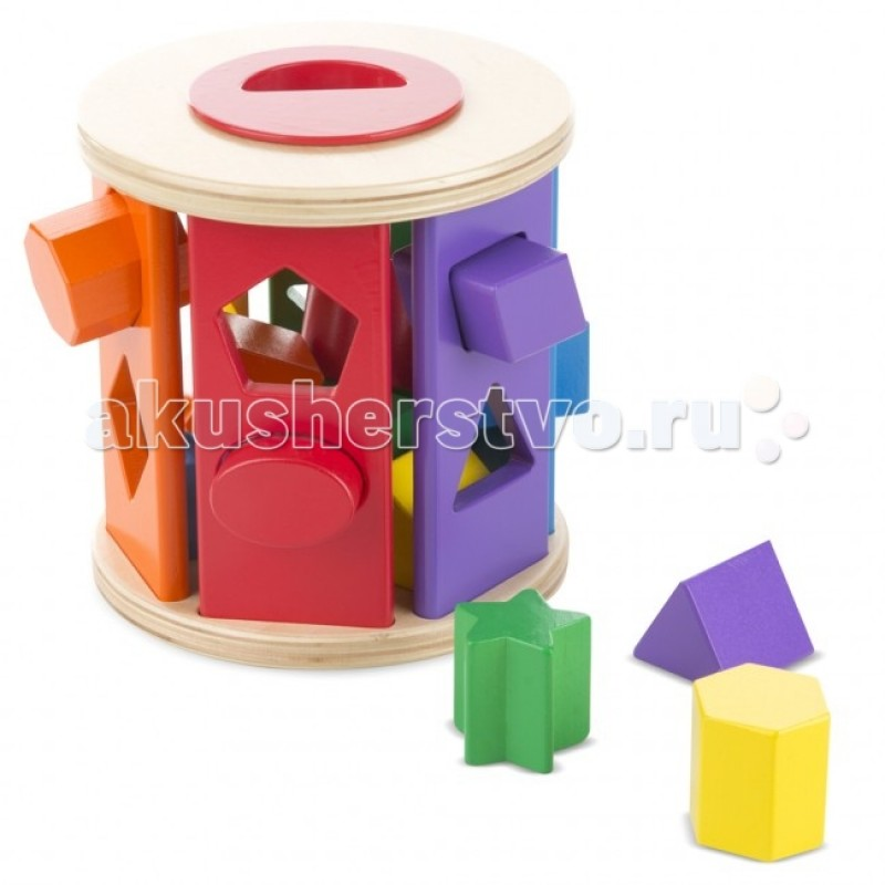 Деревянная игрушка Melissa & Doug Барабан сортировщик
