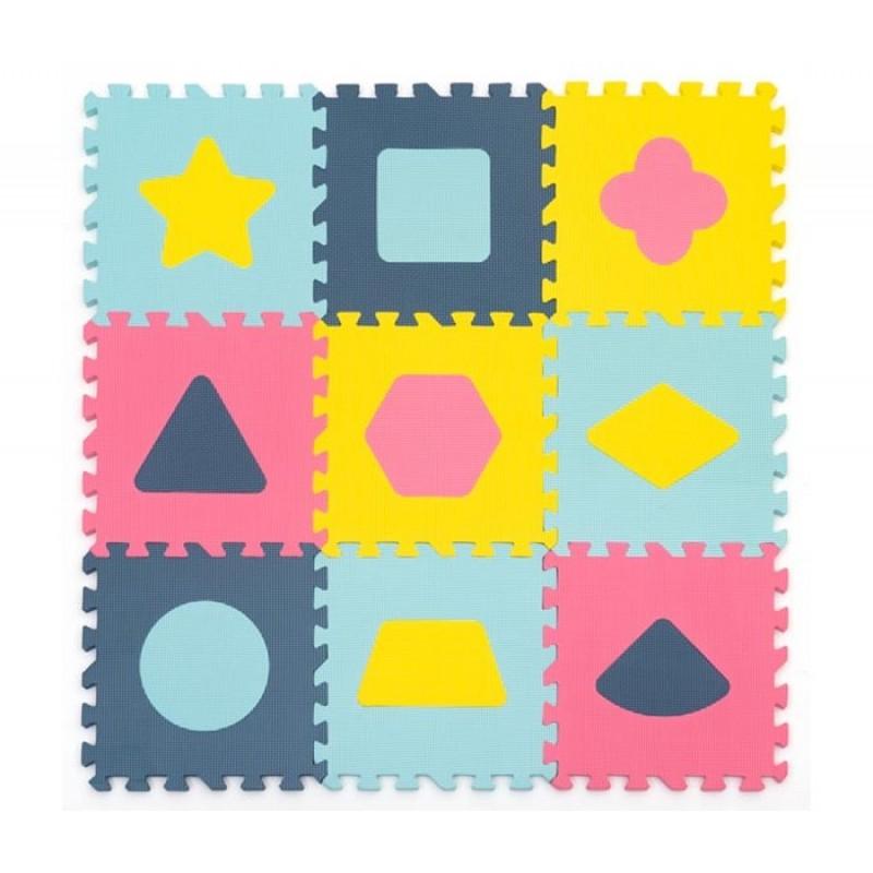 Игровой коврик FunKids с фигурами NT10 толщина 10 мм Геометрия-10 KB-D20C-9-NT10