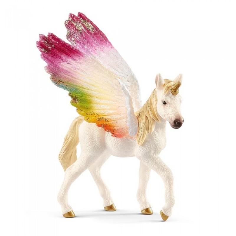 Schleich Игровая фигурка Детеныш крылатого радужного единорога