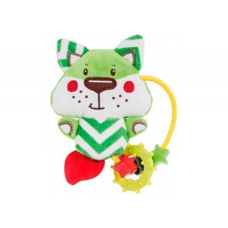 Погремушка Canpol Мягкая игрушка с прорезывателем Forest Friends Лисенок