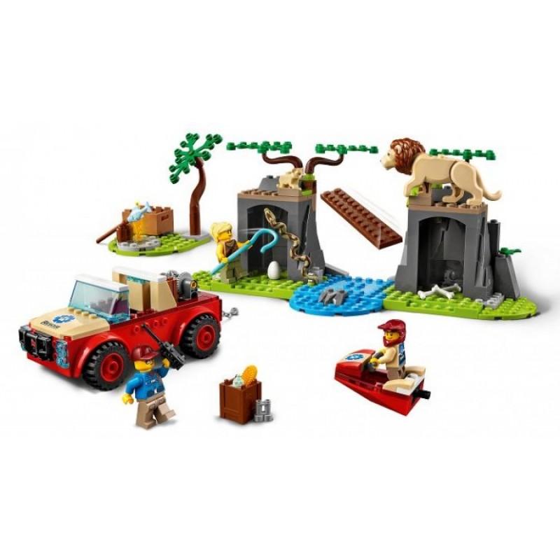 Конструктор Lego City Спасательный внедорожник для зверей