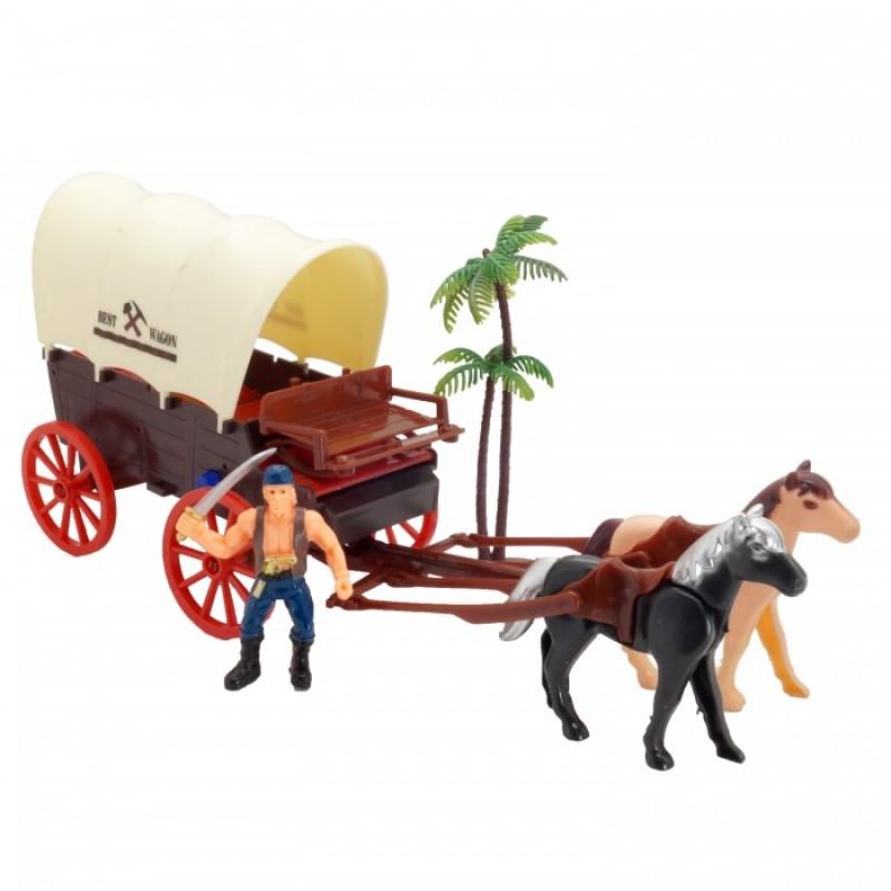 HK Industries  Игровой набор Пираты, карета со светом и звуком