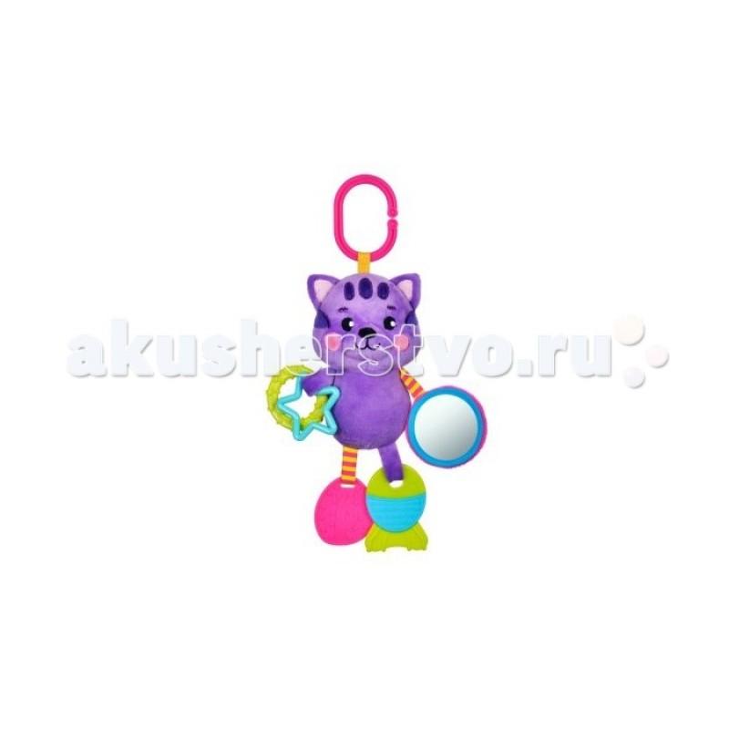 Подвесная игрушка Жирафики с силиконовым прорезывателем и зеркальцем Котик