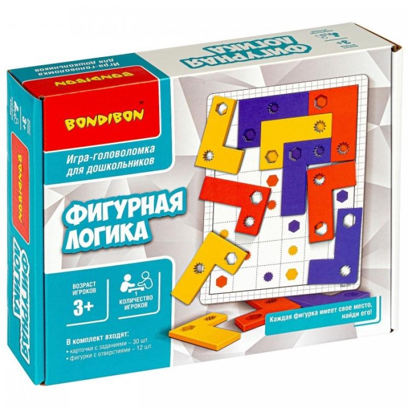 Bondibon Игра-головоломка Фигурная логика для дошкольников