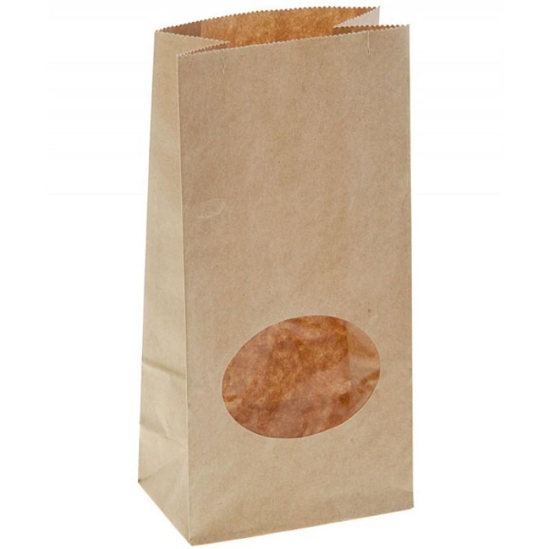 Attache Пакет из крафт-бумаги с окном 20x10x6 50 шт.
