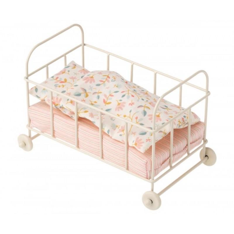 Maileg Металлическая детская кроватка Микро