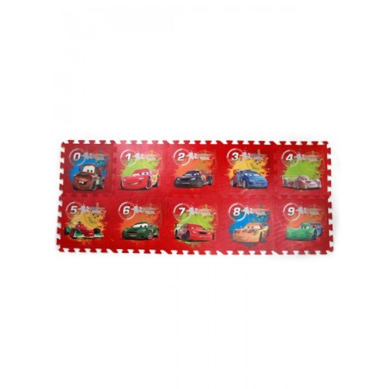Игровой коврик Играем вместе Тачки (Disney) с вырезанными цифрами коврик-пазл