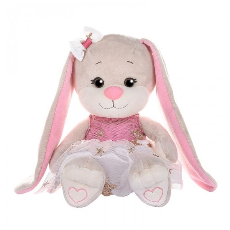 Мягкая игрушка Jack&Lin Зайка в платьице со звездочками 20 см