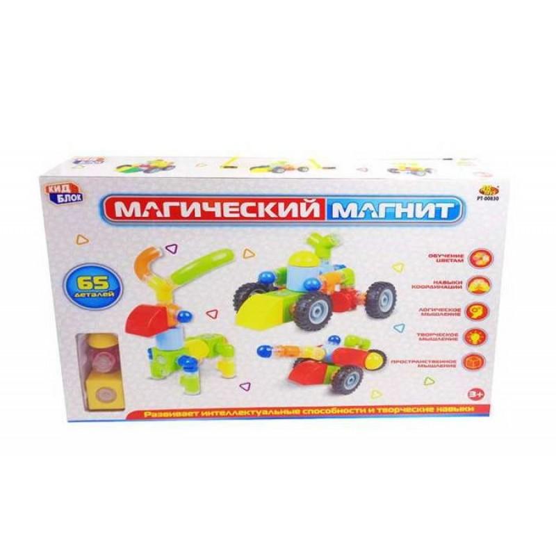 Конструктор ABtoys Магический магнит (65 деталей)