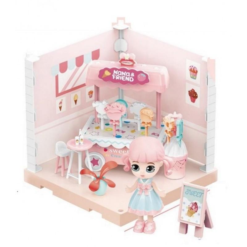ABtoys Модульный домик Собери сам Мини-кукла в кондитерской с аксессуарами