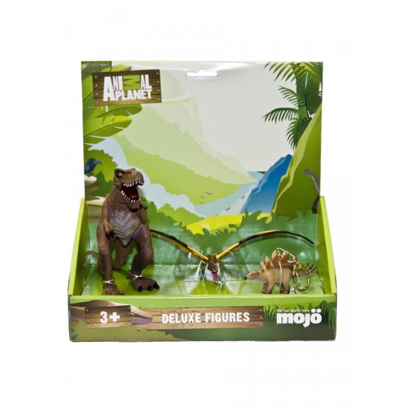 Mojo Набор фигурок Animal Planet L: Тираннозавр рекс L, Тропеогнат L, Стегозавр брелок